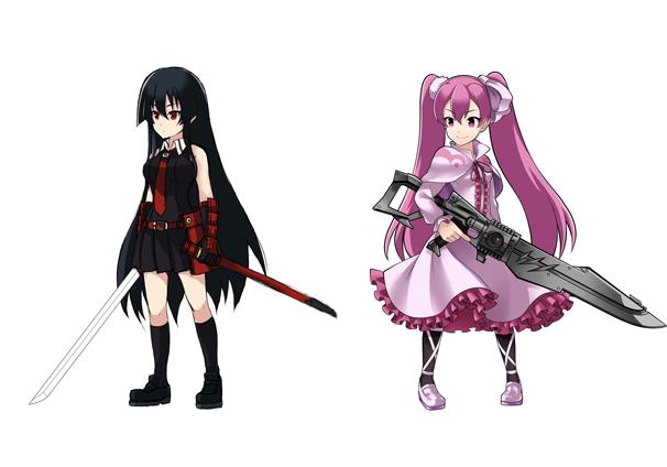 立ち絵/左:アカメ 右:マイン