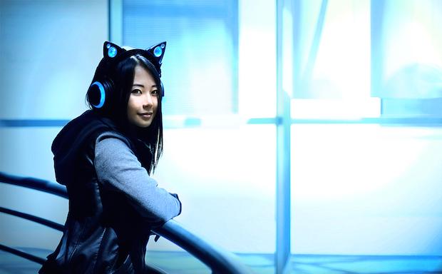 これは可愛い! 猫耳スピーカー付きヘッドホンを支援して一早くゲット