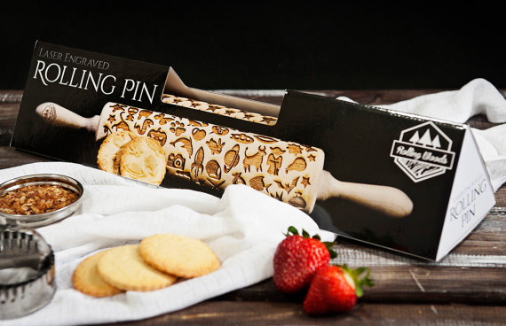 「laser engraved rolling pin」