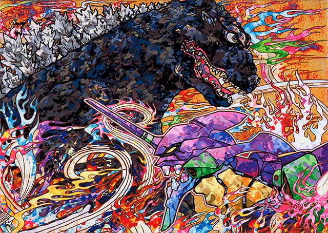 シン・ゴジラ×現代美術家 村上隆のコラボビジュアルが圧倒的すぎるっ!
