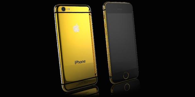 スワロフスキー製のAppleロゴ! 46万円のセレブご用達純金iPhone 6登場