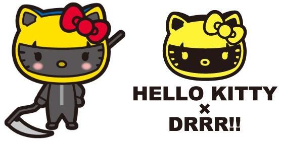 今度は『デュラララ!!』とコラボ! キティちゃんが首なしライダーに変身