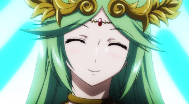 微笑むパルテナ
