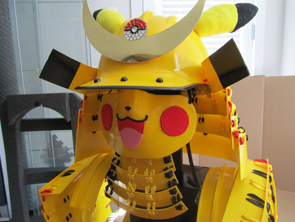 Pikachu Samurai: Mask completion