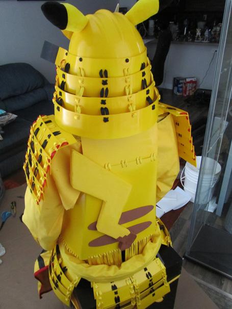 Pikachu Samurai Armor: Back