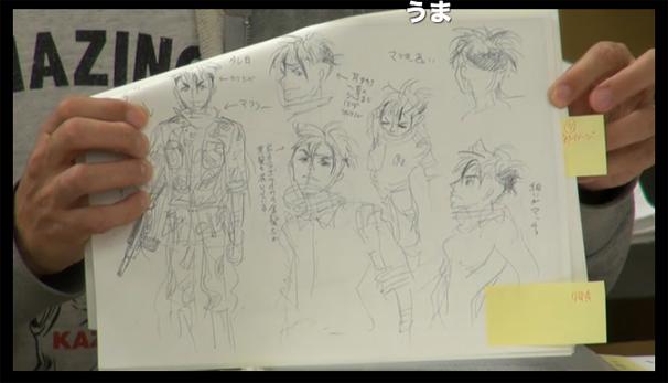 舞城王太郎さんによる少年兵のイラスト