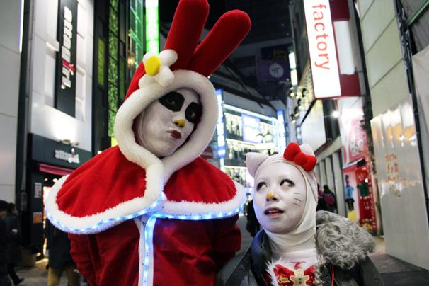 渋谷サンタコスプレ美女画像まとめ2
