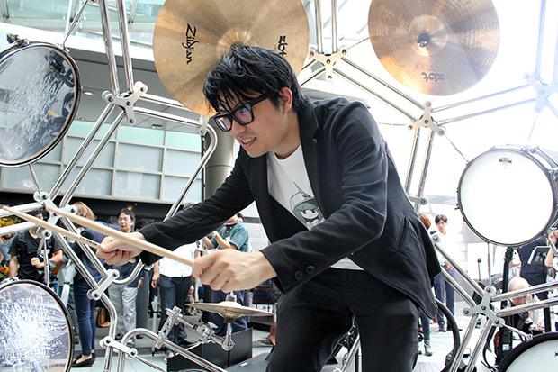 球体型ドラムに2人用マリンバ! ヤマハデザイン展で未知の楽器を体験!