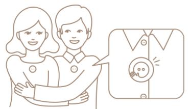 「hug button(ハグボタン)」2