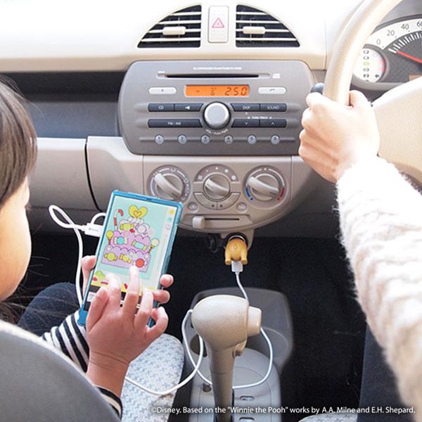 『ディズニーキャラクター/USB-DC車載用充電器 おしりシリーズ』2
