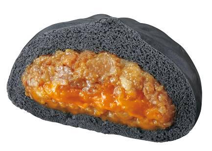伝説のすた丼が真っ黒な中華まんに! サークルKとサンクスで限定発売