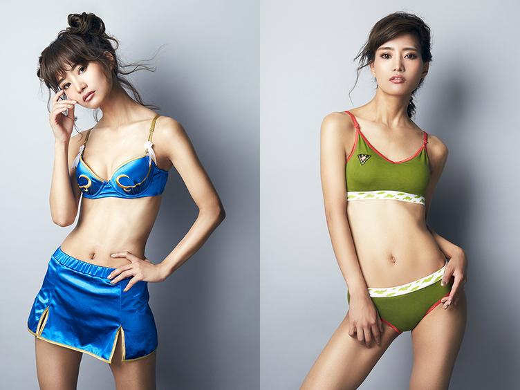 「ストリートファイター」春麗とキャミィのコラボ下着がセクシー&スポーティー!