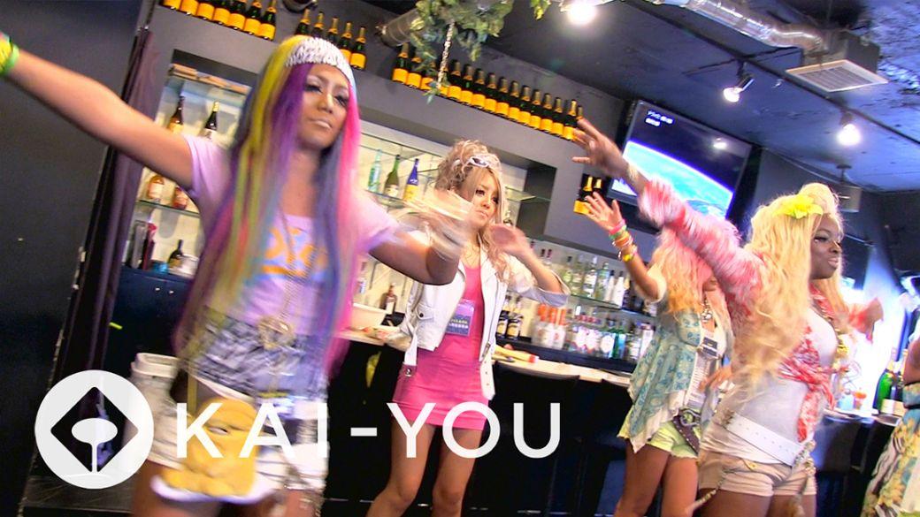 【動画】黒ギャルがガチで踊るパラパラダンス@渋谷ガングロカフェ