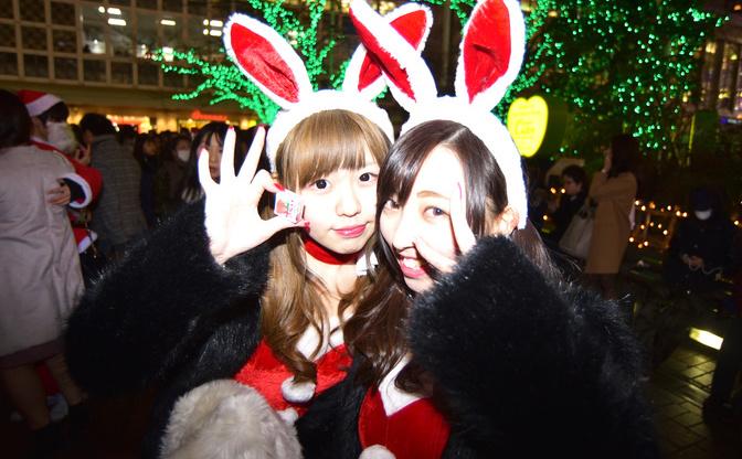 クリスマスイブの渋谷は盛りあがった? レア化したサンタギャルの行方