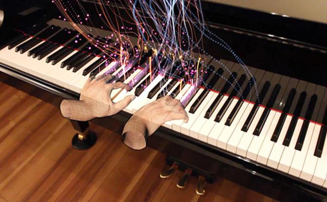 ピアニストの演奏や感情を視覚化 日テレ×ヤマハの空間複合現実とは?