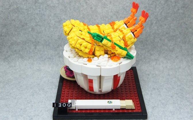 レゴで作った天丼が飯テロ! コンテスト1位の日本人が海外で絶賛