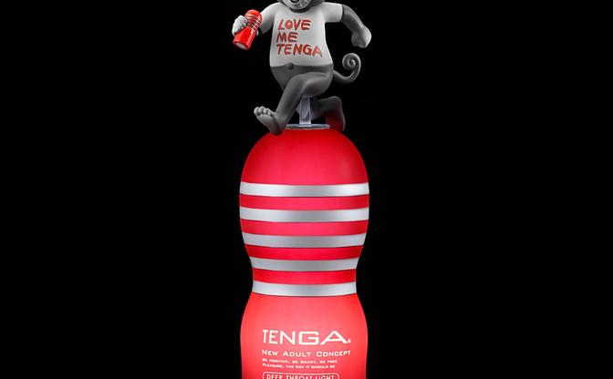 ついにTENGAが光るインテリアとして公式に製品化 まん◯画太郎フィギュアとも合体