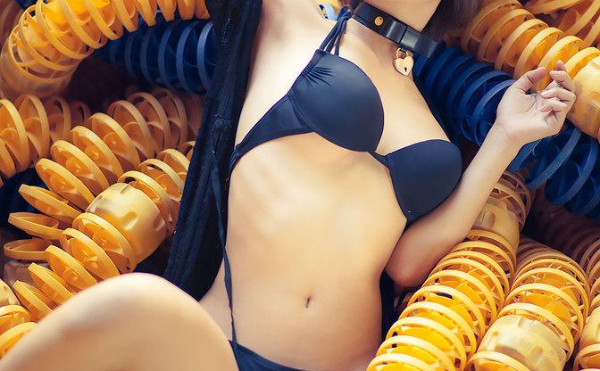 【水着グラビア】七瀬さくら 妄想プールデートで健やかな肢体を堪能