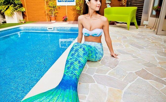 人魚のように泳げる水着「アビスマーメイド」でシェイプアップ!