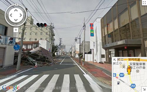 立ち入り禁止区域の福島県浪江町が、Googleストリートビューで閲覧可能に
