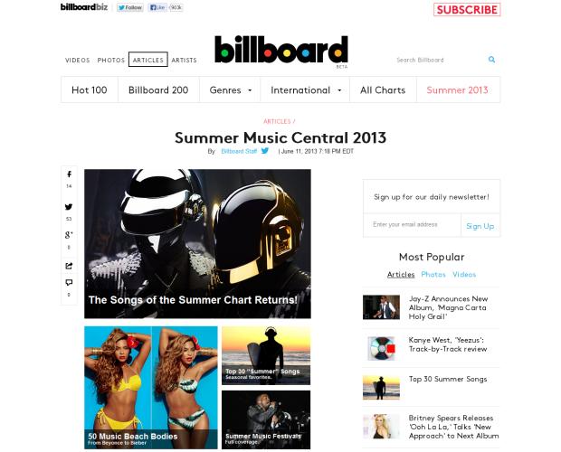 米国ではどんな夏メロが流行ってるの? 「Billboard Summer 2013」まとめ
