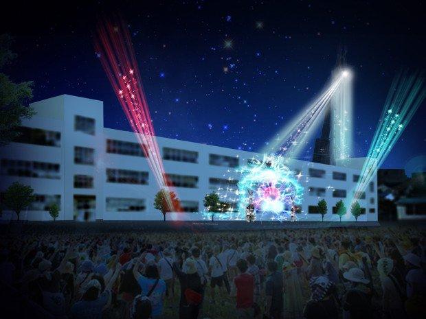 仮想的現実空間「TRANS CITY ‒トランスシティ-」のプロジェクションマッピング