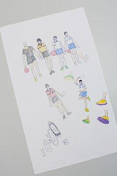 アニメ『ピンポン』キャラクター設定のラフスケッチ