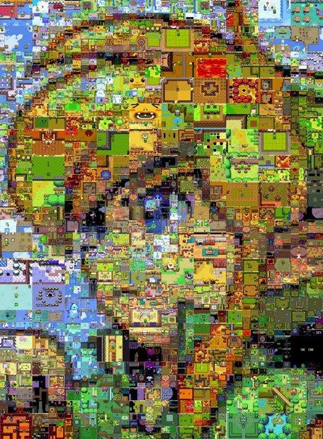 なにこれヤバい! 「ゼルダの伝説」の膨大なゲーム画像でリンクの顔を表現