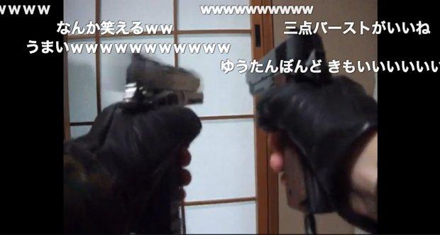 エアガンの空撃ちで「千本桜」を演奏する動画が超シュール