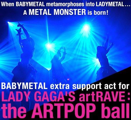 BABYMETAL、レディー・ガガ世界ツアーサポートアクトに決定!