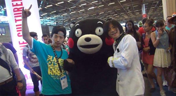 くまモン、オタ芸を披露 フランス「ジャパンエキスポ2014」にて