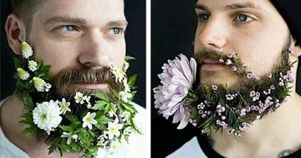 草花を生やすヒゲデコレーションが斬新! アフガニスタンで流行中?