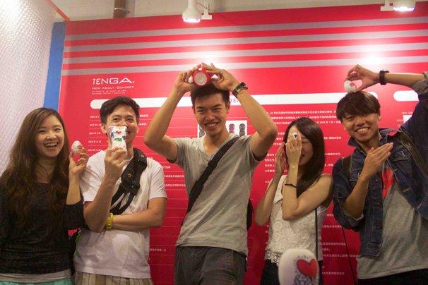 「台湾デザイナーズウィーク」TENGAブースの様子