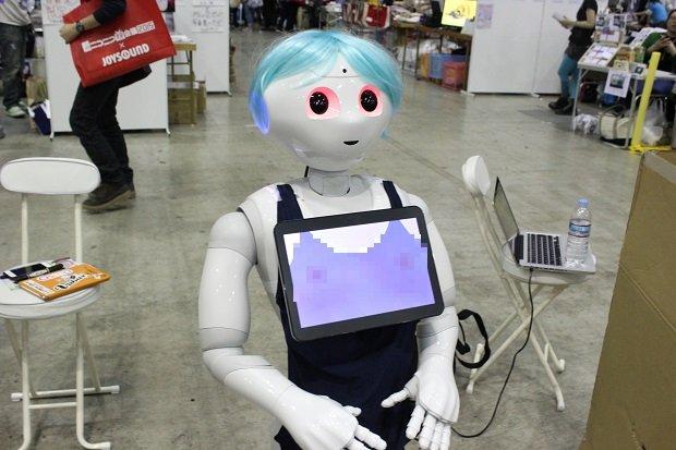 【超会議2015】ペッパイちゃん緊急参戦! ロボットおっ○いをもんできた