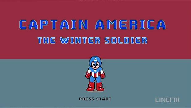 『キャプテン・アメリカ』の8ビット動画! 印象的なあのシーンも再現
