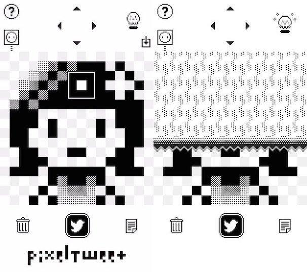 「PixelTweet - 楽々モノクロドット絵エディタ」 開発: HANDSUM.INC