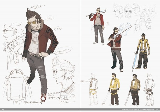 『NO MORE HEROES』キャラクターデザイン:コザキユースケさん、メカニックデザイン:コヤマシゲトさん