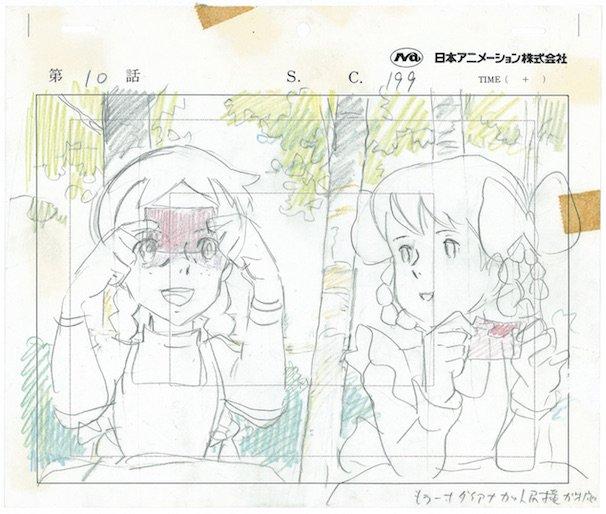 """宮崎駿さん『赤毛のアン』レイアウト/(C)NIPPON ANIMATION CO., LTD. """"Anne of Green Gables"""" TMAGGLA"""