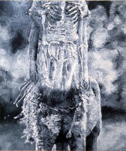 杉田陽平 phantom 2014 oil on canvas 530×460mm/昨年開催の「幽霊画展2014」の出展作品より