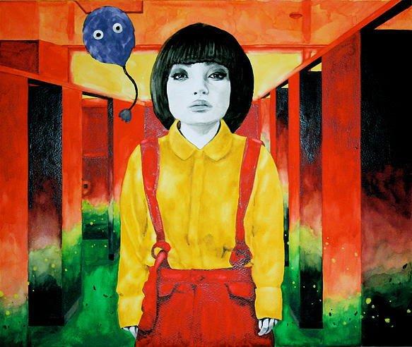 笹山直規 トイレの花子さん 2014 モンバル紙に鉛筆・透明水彩 455×380mm/昨年開催の「幽霊画展2014」の出展作品より