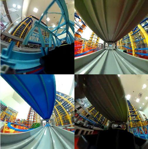 超高層プラレールに小型カメラを積んで撮影した360度映像が完全に未来