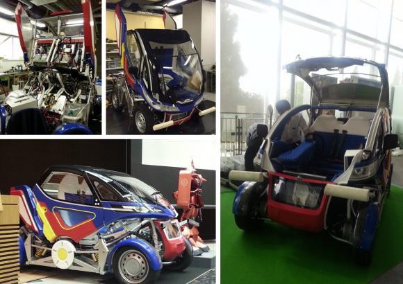 大河原邦男デザインの電気自動車は変形も合体もするぞ! アニメ化へ向け資金募集