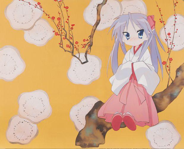 「琳派オマージュ展」 まどマギ、らき☆すたの肖像と日本伝統美が融合