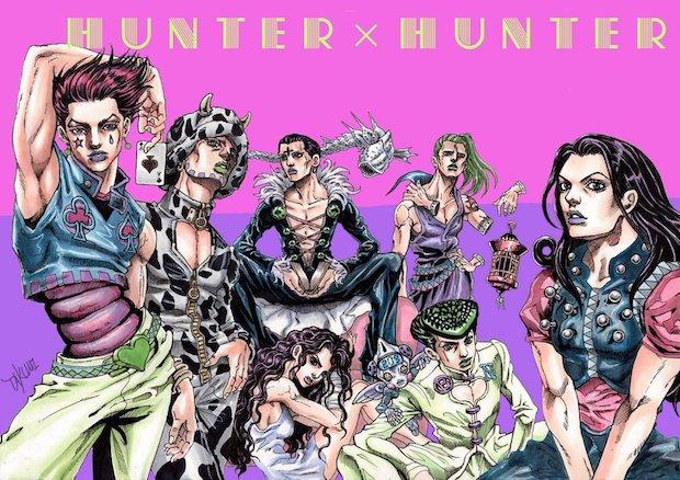 4部アニメ化! ジョジョ風の『HUNTER×HUNTER』イラストがゥンまああ〜いっ
