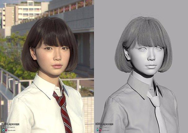 3DCGキャラクター「Saya」2