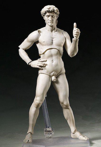 美術史に残る名作「ダビデ像」がフィギュアに 歴史を越えるイケメン
