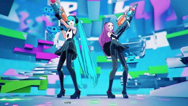 安室奈美恵×初音ミクコラボMV 未来都市で銃を撃ちまくる姿がかわいい