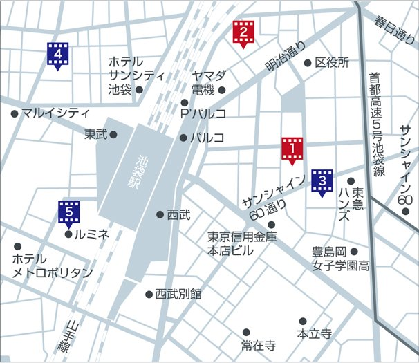 「池袋シネマチ祭」マップ
