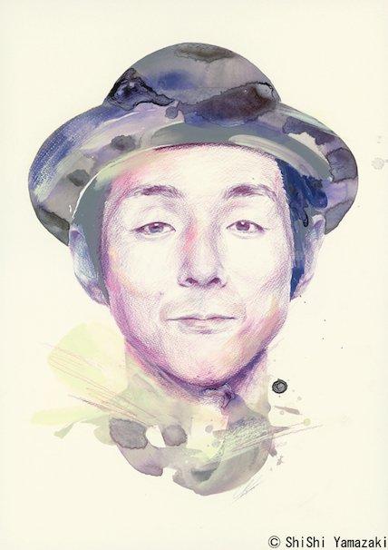 シシヤマザキ1st画集『Face Face』/宮藤官九郎さんの肖像画