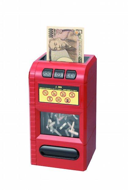 お札をシュレッダーにかけるジョーク貯金箱で成金気分を味わえる?